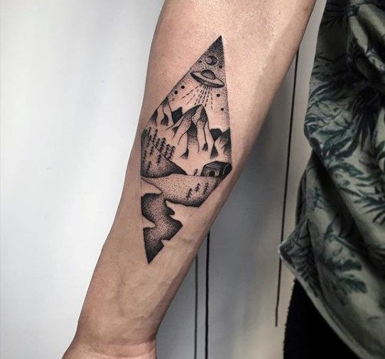 forest mens mens inner inner forearm forearm tattoo men inner ...