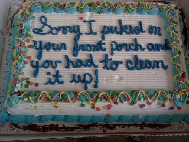 Fabulous Best Apology Cake Ever Funny Birthday Cakes Funny Birthday Cards Online Overcheapnameinfo