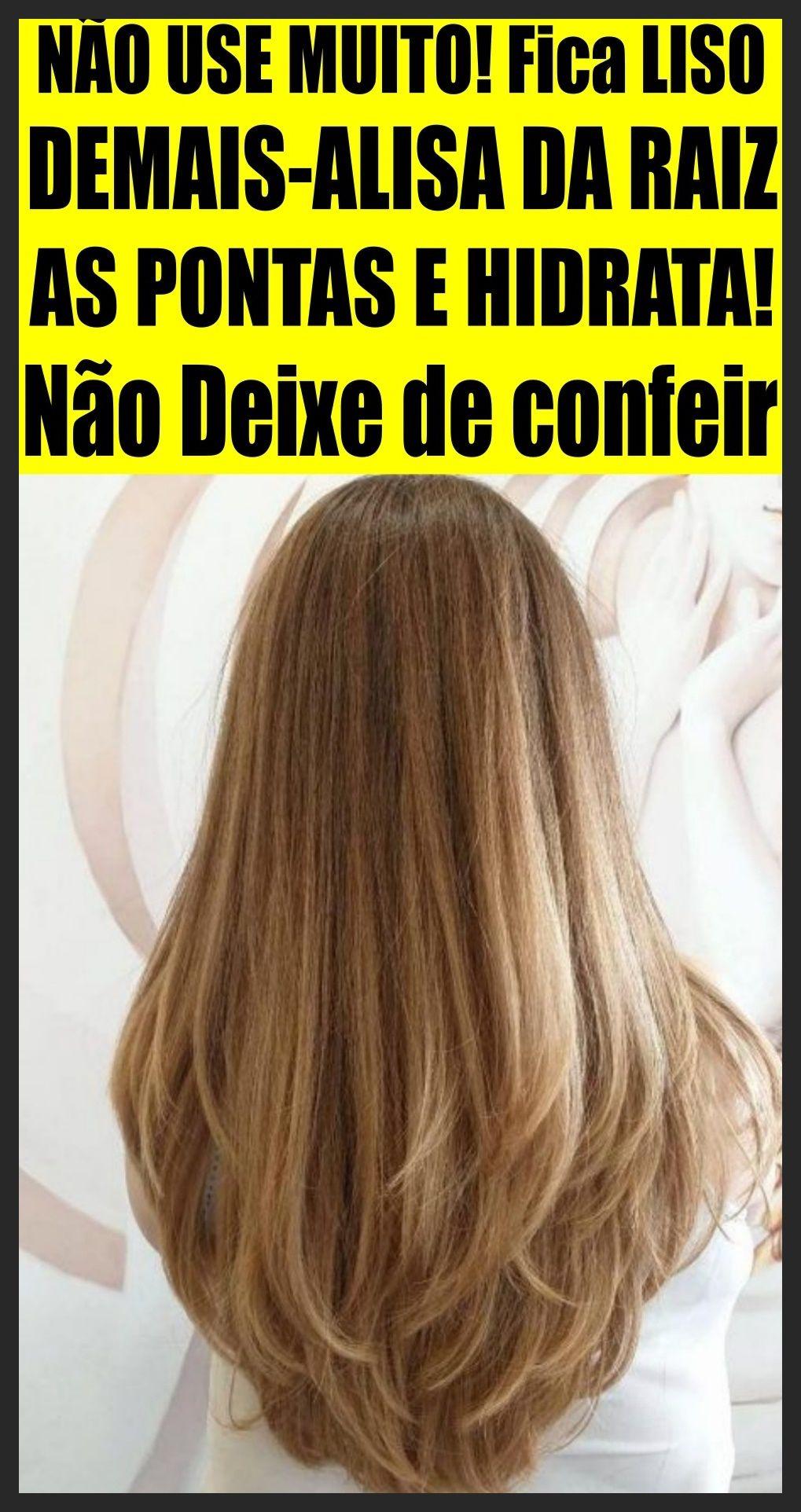 Glicerina Alisa Cabelo Da Raiz As Pontas Qualquer Tipo De Cabelo