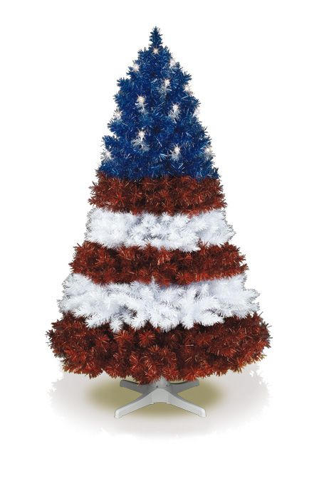 Vote For Me Artificial Tree Usa Usa Usa Shout Your Patriotism Even More Boldly With A Patriotic Christmas Tree Unique Christmas Trees Patriotic Christmas