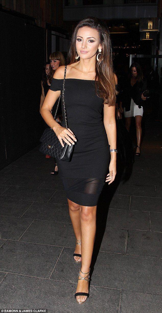 631db5a6775 Michelle Keegan wows in a little black dress  dailymail