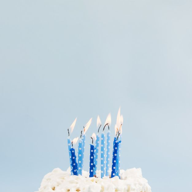 Tremendous Download Blue Lighted Candles Over The Birthday Cake Against Blue Funny Birthday Cards Online Elaedamsfinfo