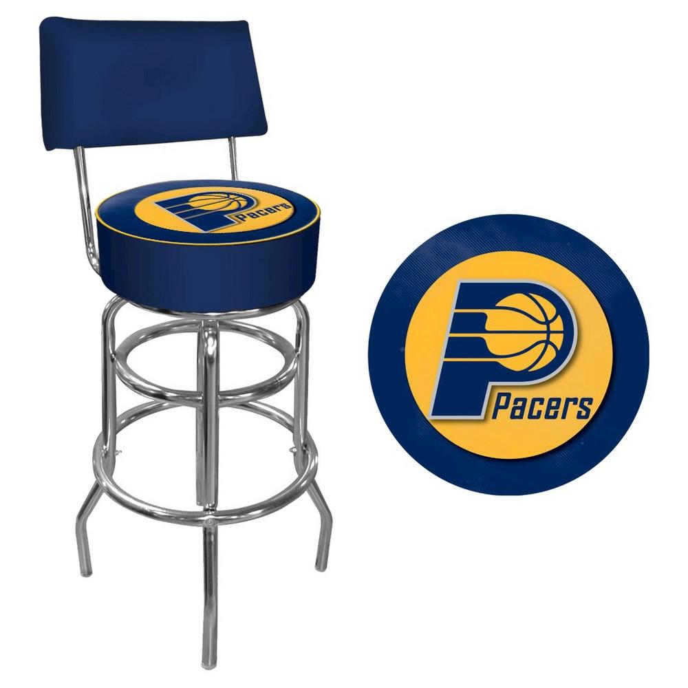 Detroit Pistons Padded Swivel Bar Stool W Back Bar Stools With Backs Padded Bar Stools Swivel Bar Stools