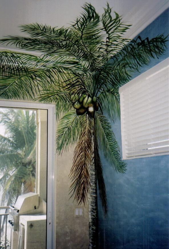 Palm Tree Mural Artwork By Louise Moorman Tree Mural Beach