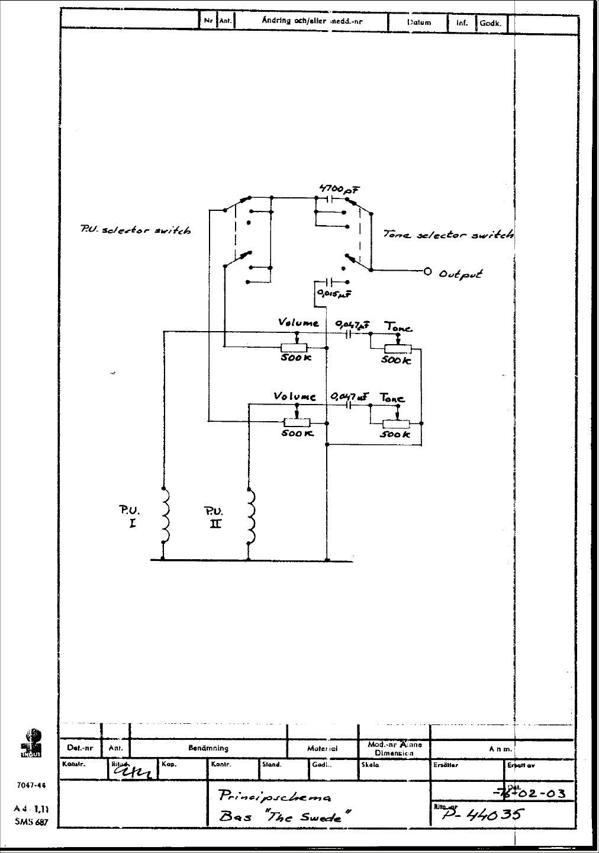 http www hagstrom org uk schematics schempics swedebass 1976 jpg rh pinterest com Les Paul Wiring Diagram Switch Wiring Diagram