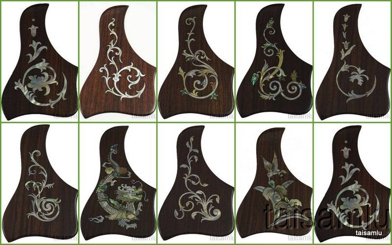 Acoustic Guitar Pickguard Rosewood Dragon Taylor Style Left 1 Piece Pgtll07 Acoustic Guitar Pickguard Beautiful Guitars
