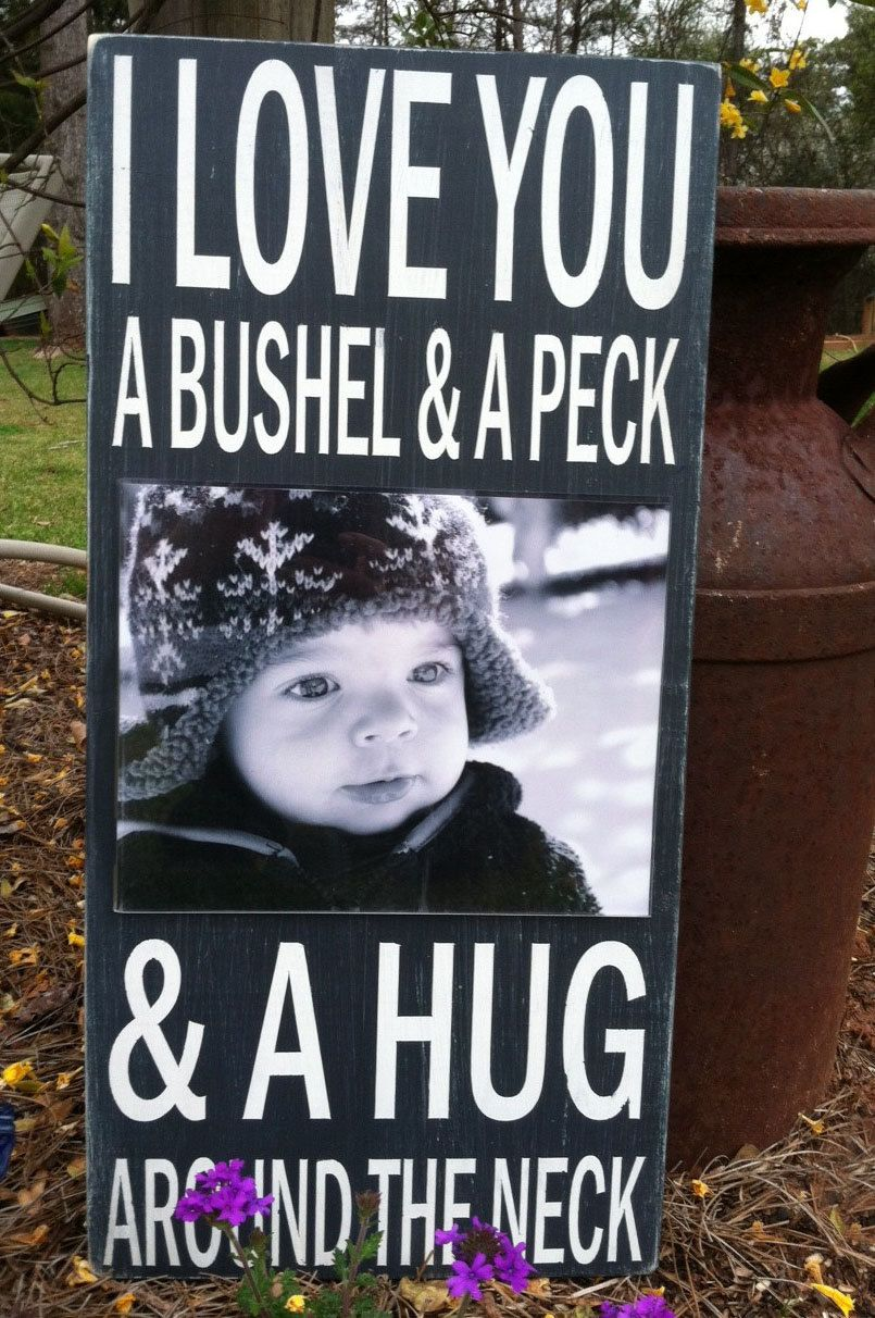 I Love You a Bushel and a Peck -Picture Frame Sign - Hand Painted ...