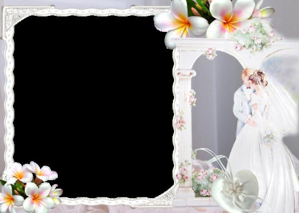 Wedding Floral Transparent Frame Frames for Wedding