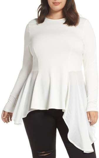 440cbb92e0d LOST INK Drape Side Mixed Media Top - Plus Size. Find this Pin and more on Plus  Size Tops by Shapely Chic Sheri.