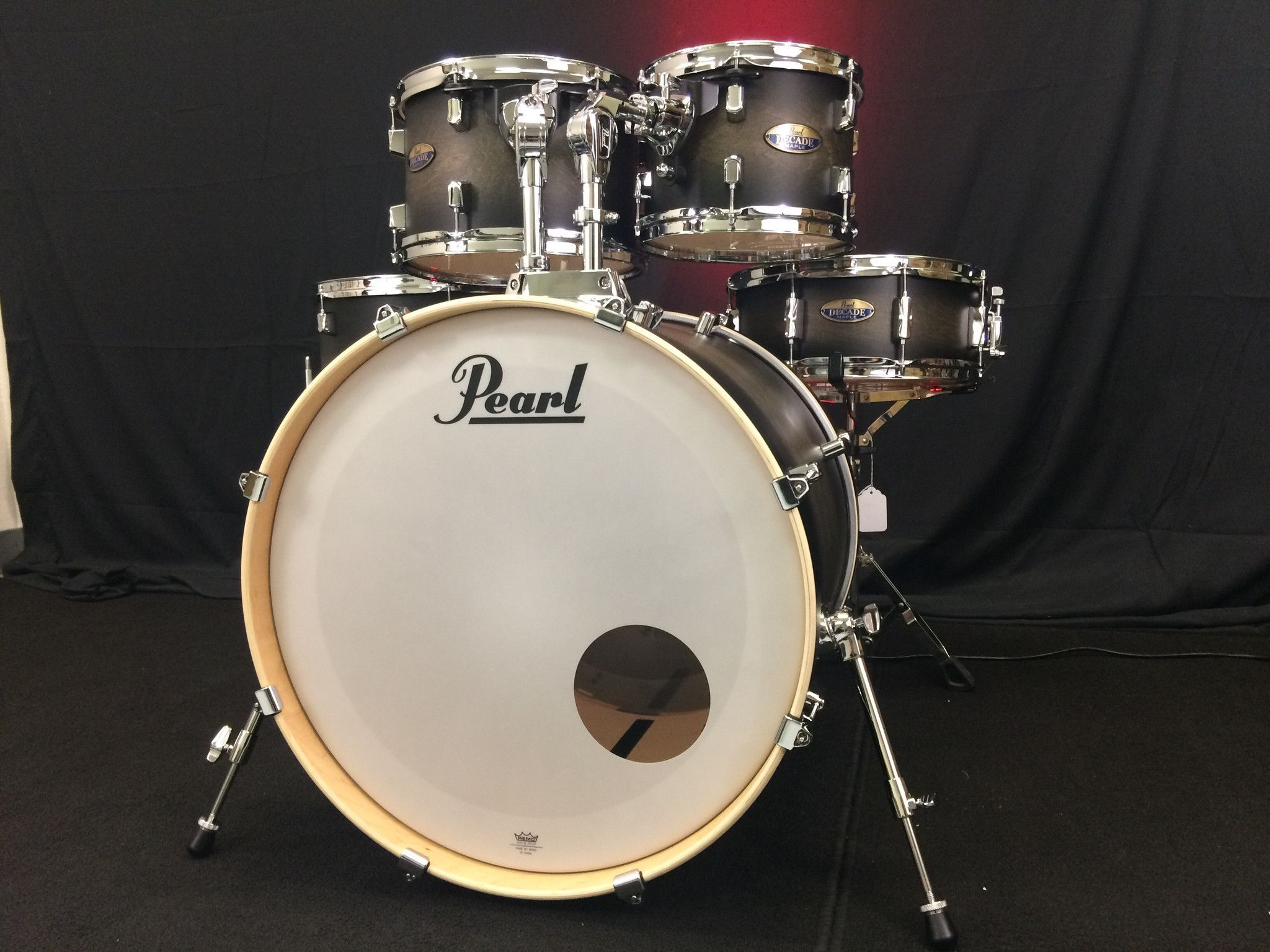 Pearl Decade Maple Satin Black Burst 22 16 12 10 14 Snare Brand