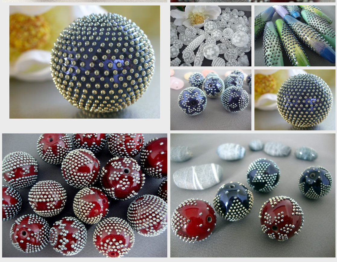 Anne-lise - insane precision with lampwork dot work...