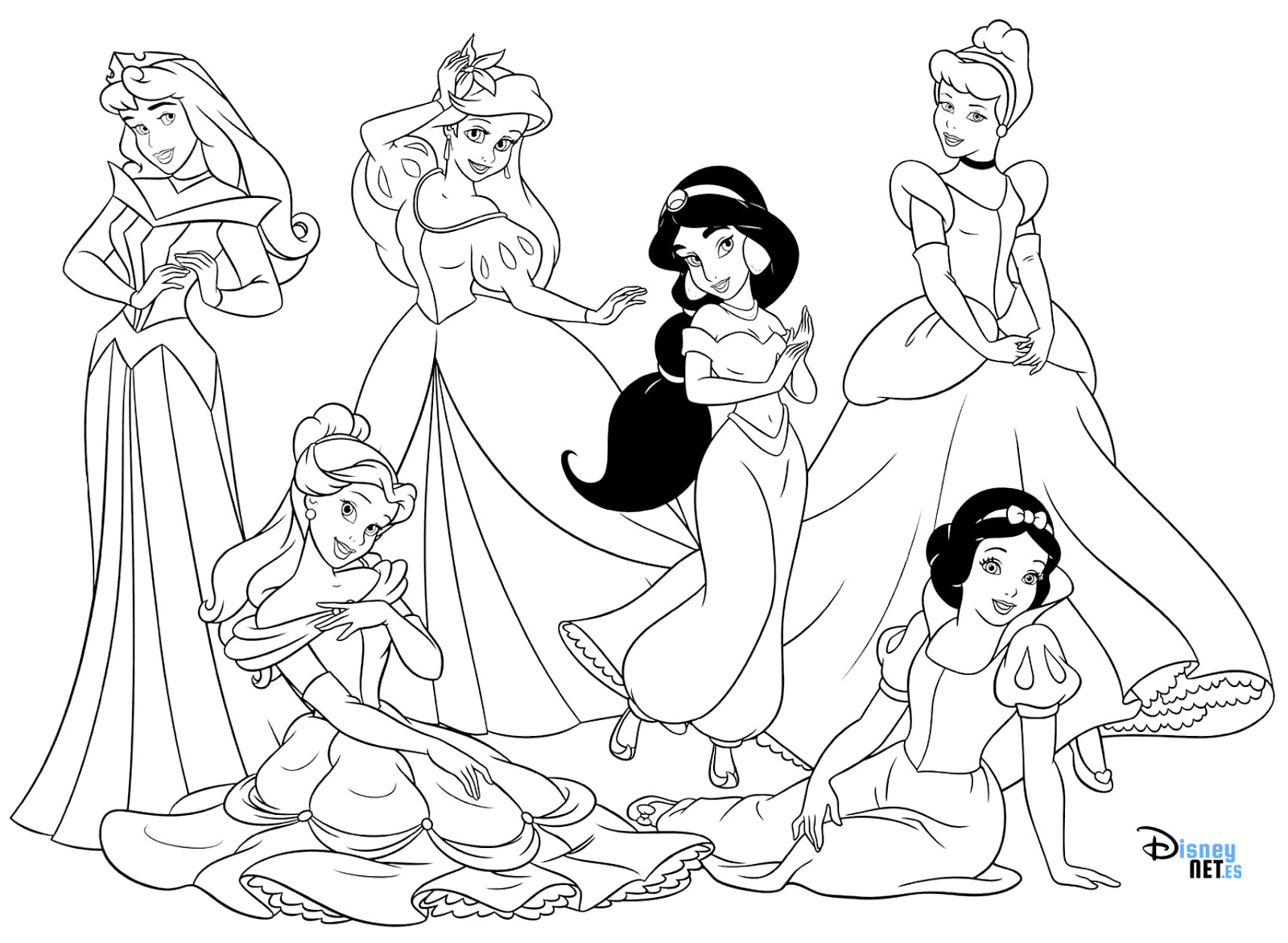 PrincesasDisney para #colorear #Disney #DisneyPrincess | Princesas ...