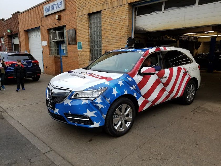 Check Out This Awesome Wrap On A Acura MDX For Paragon Acura - Window stickers for carshow to read a new car window stickertischer automotive blog