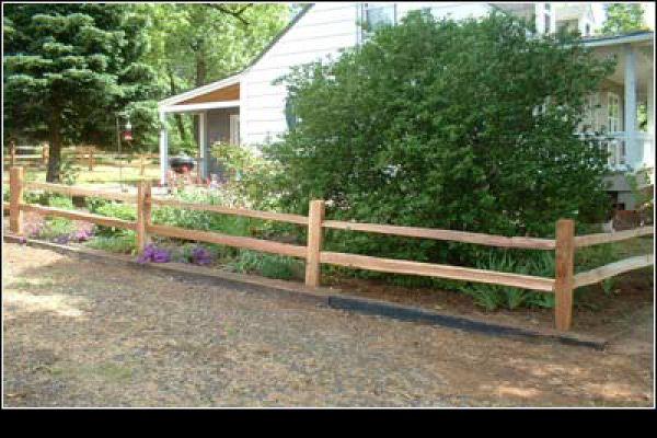 Post Rail Cedar Fencing Connecticut Fence Company CT Fence