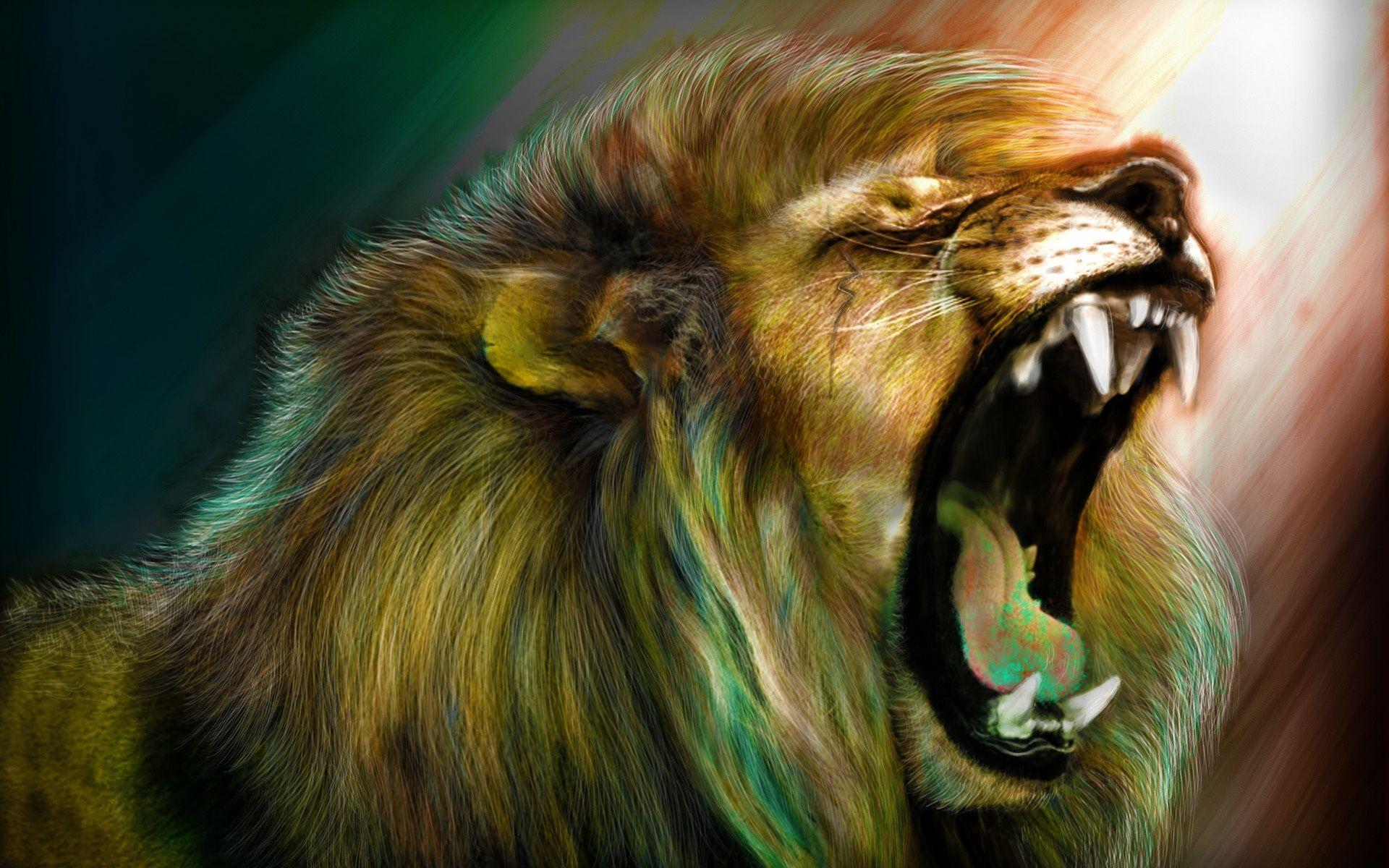 Download The Lions Roar Wallpaper