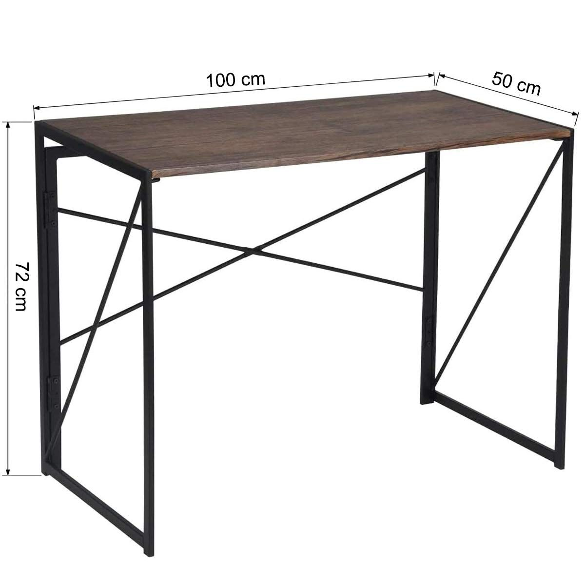 Coavas Klappbar Konferenztisch Buro Arbeitstisch Schreibtisch Keine Montage Pc Tisch Industrial Style Klapp Laptop Tisch F Arbeitstisch Konferenztisch Pc Tisch