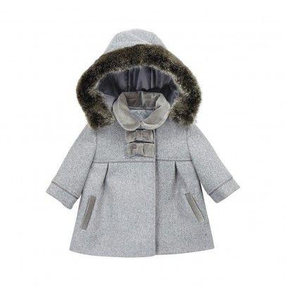 3888fb503 Edelweiss fur coat Heather grey Tartine et Chocolat