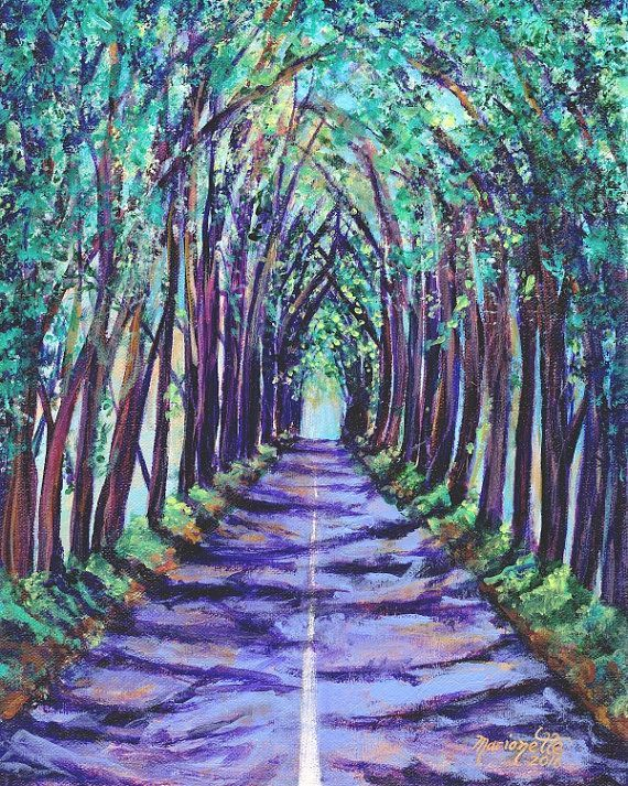 Kauai Tree Tunnel - Kauai Art - 8 x 10 Giclee Art Print - Koloa Tree Tunnel - Kauai Art Prints - Hawaii  Art - Hawaiian Art - Maluhia Road