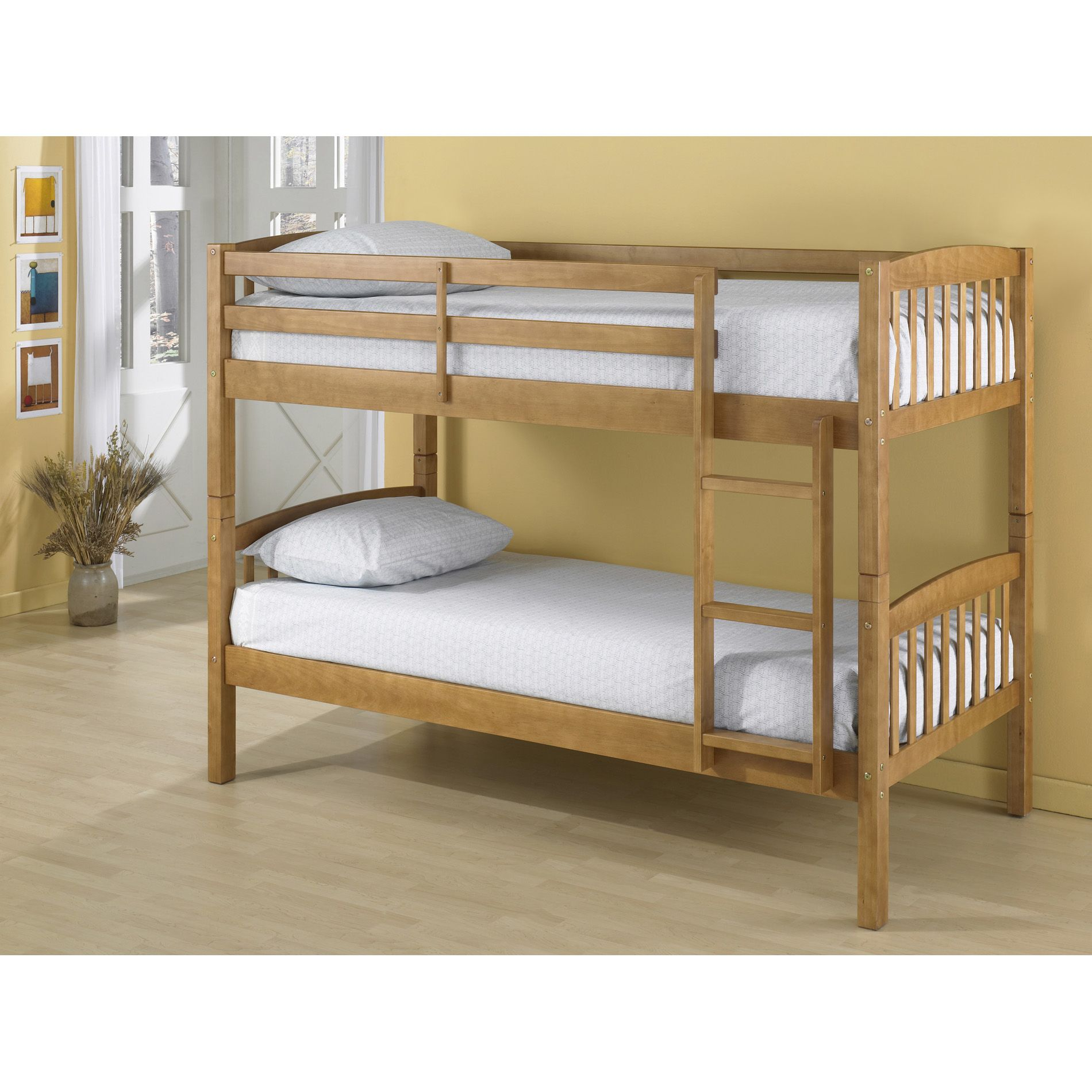 official photos 25d2a d42b5 Essential Home Belmont Bunk Bed with Pine Finish - $129.46 ...