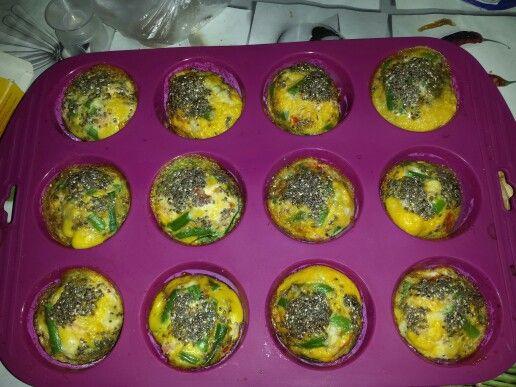 Os meus primeiros queques de legumes