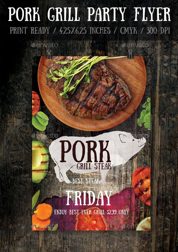 Pork Bbq Flyer Template  Flyer Template Flyer Printing And Print
