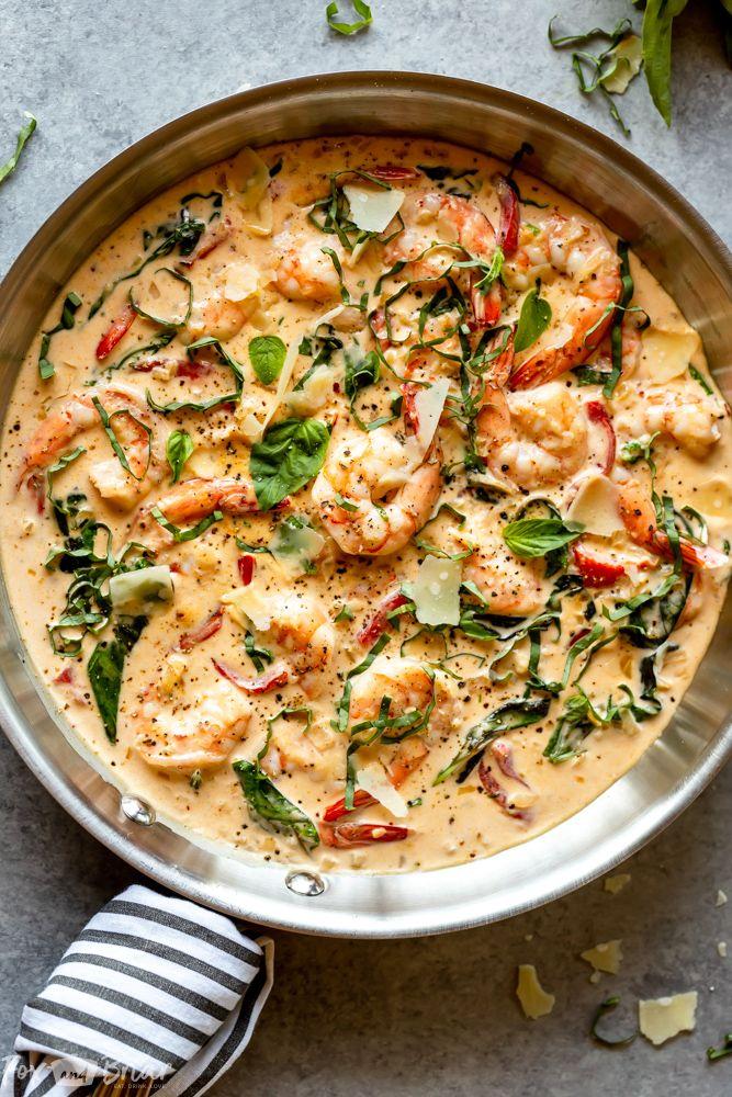 Creamy Parmesan Basil Shrimp images