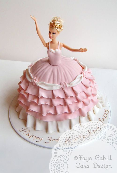 Now THATS How You Do A Barbie Cake By Faye Cahill Cake Design - Birthday cake doll designs