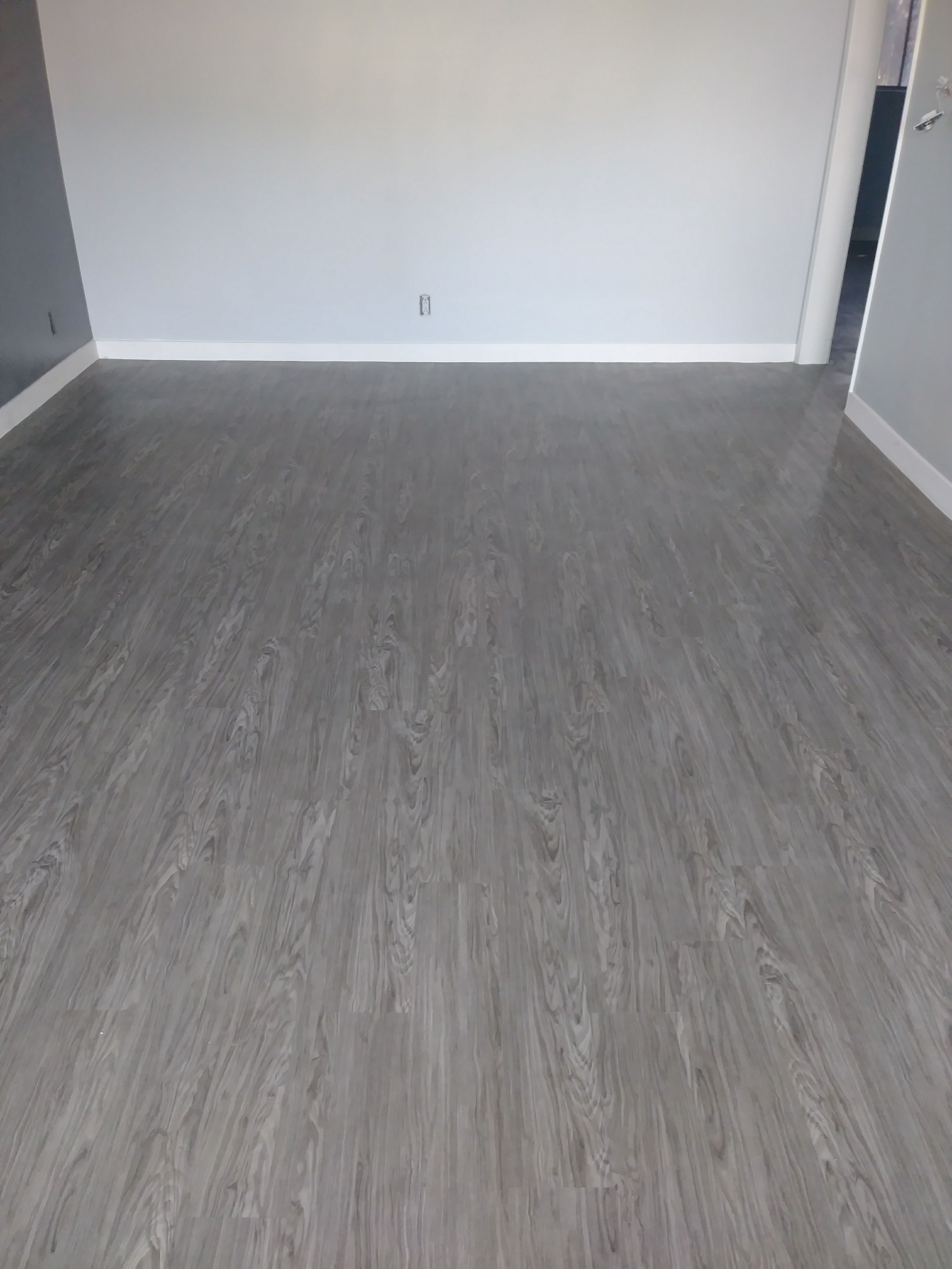 Plank Vinyl Flooring In Midland Grey Color Call Us For A Free Estimate Flooring Plankvinyl Installation Flooring Types Of Wood Flooring Laminate Flooring