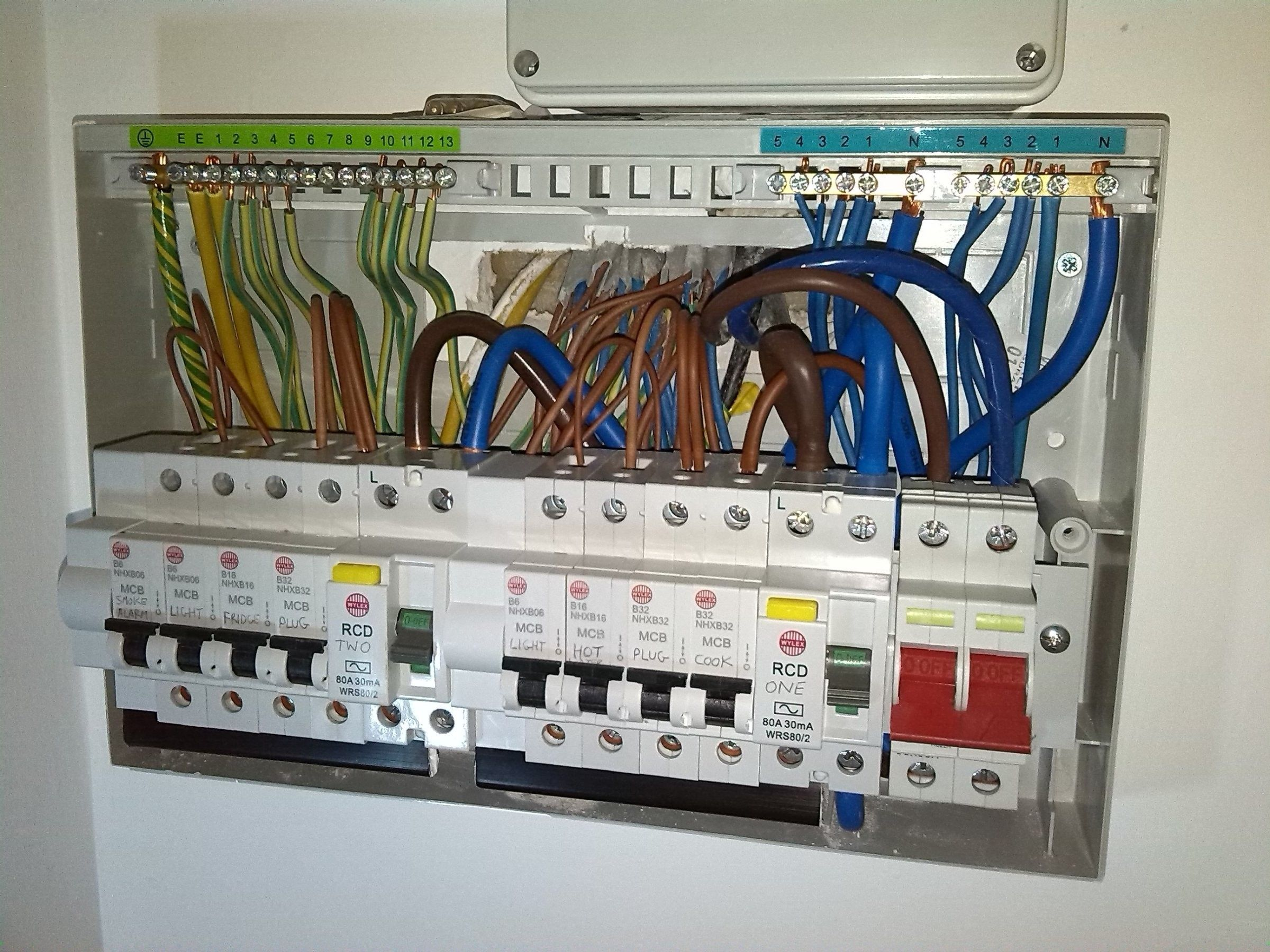 Unique Wiring Diagram For A Garage Consumer Unit Diagram Diagramtemplate Diagramsample Home Electrical Wiring The Unit Fuse Box