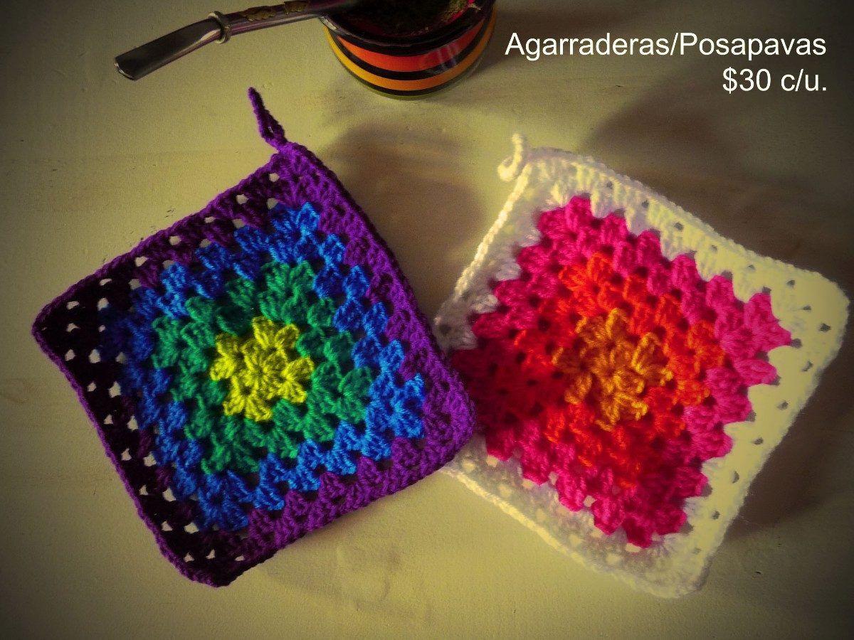 155106076 Agarraderas / Posapavas Tejidas A Crochet - $ 75,00 en MercadoLibre ...