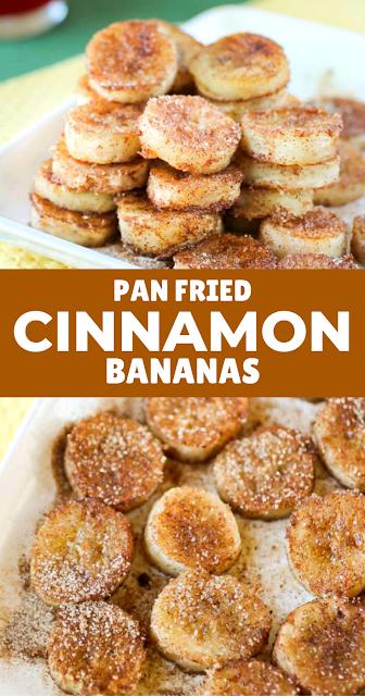 Pan Fried Cinnamon Bananas #bananadessertrecipes