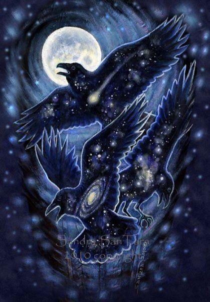 Star Raven by Sandra Tan Tara at Windwolf Studio