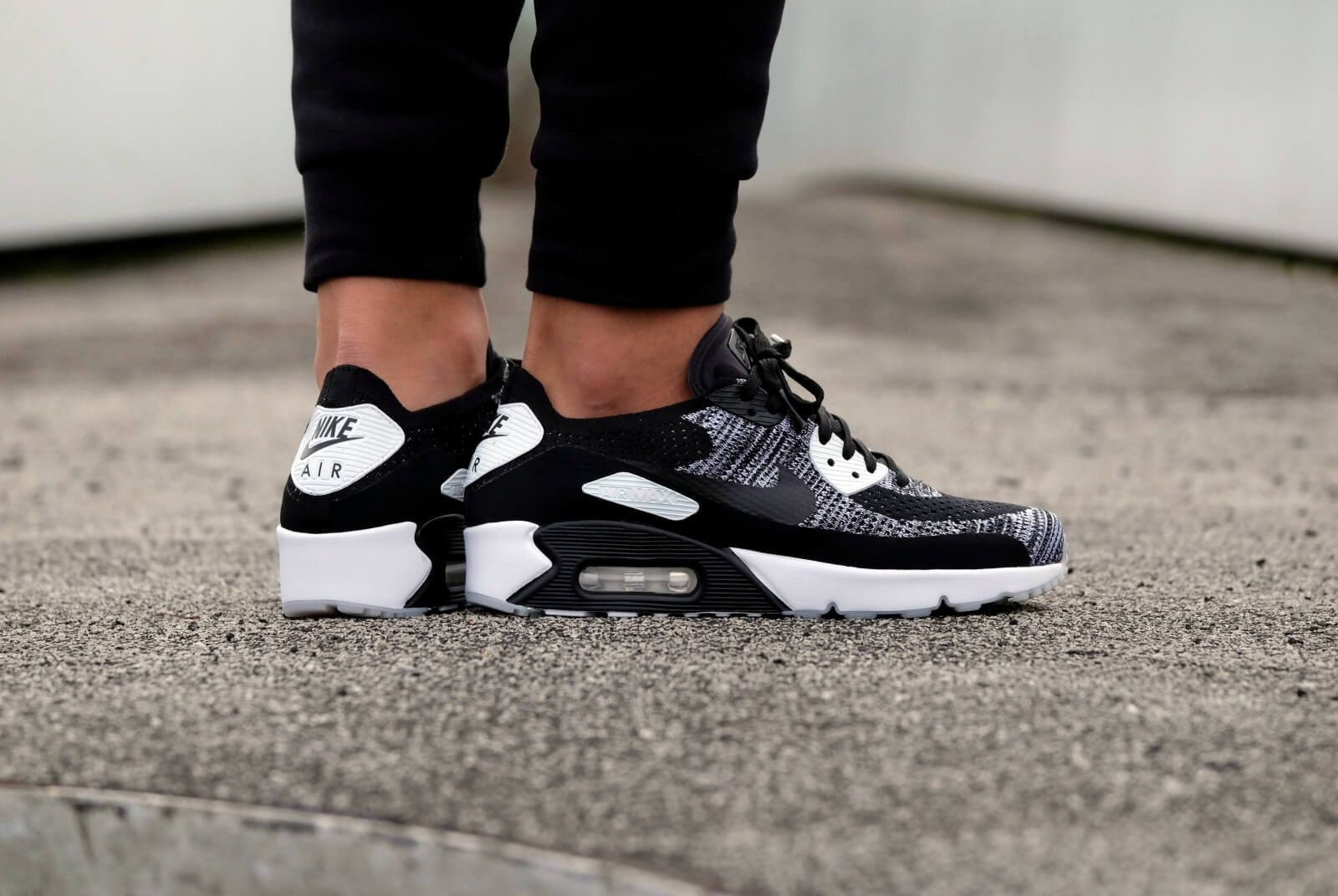 Nike Air Max 90 Ultra 2.0 Flyknit BlackBlack White 875943