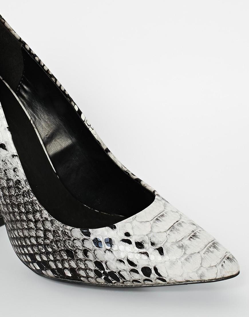 f14dc7136dc River Island Block Heel Court Snake Print Shoes at asos.com – Best ...