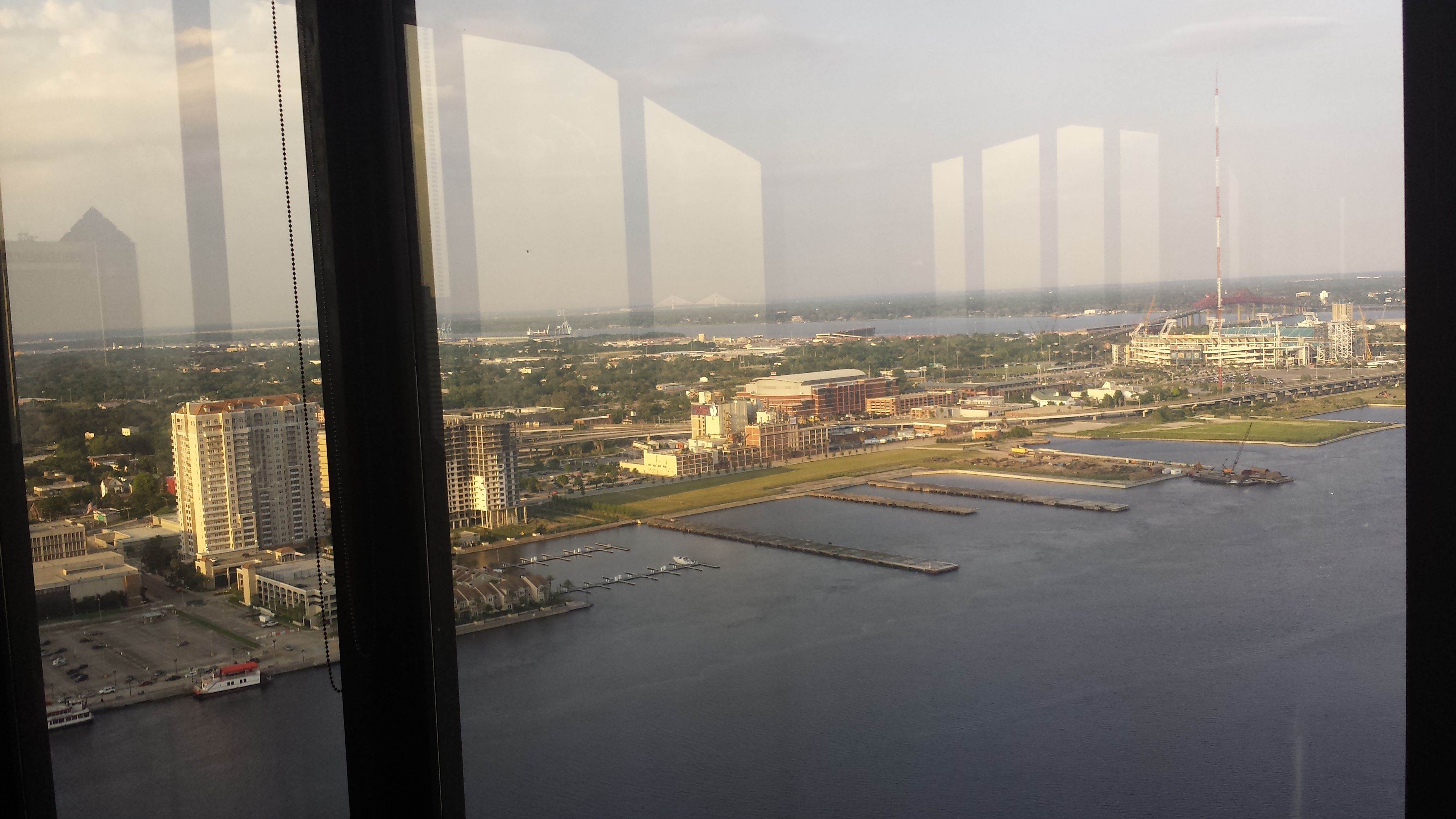 Univeristy Club 27th Floor View To Downtown Jacksonville Fl With