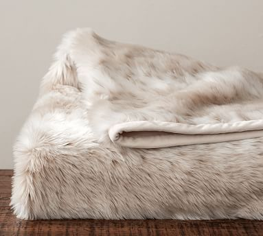 Faux Fur Throw Light Fox Potterybarn Fall Winter