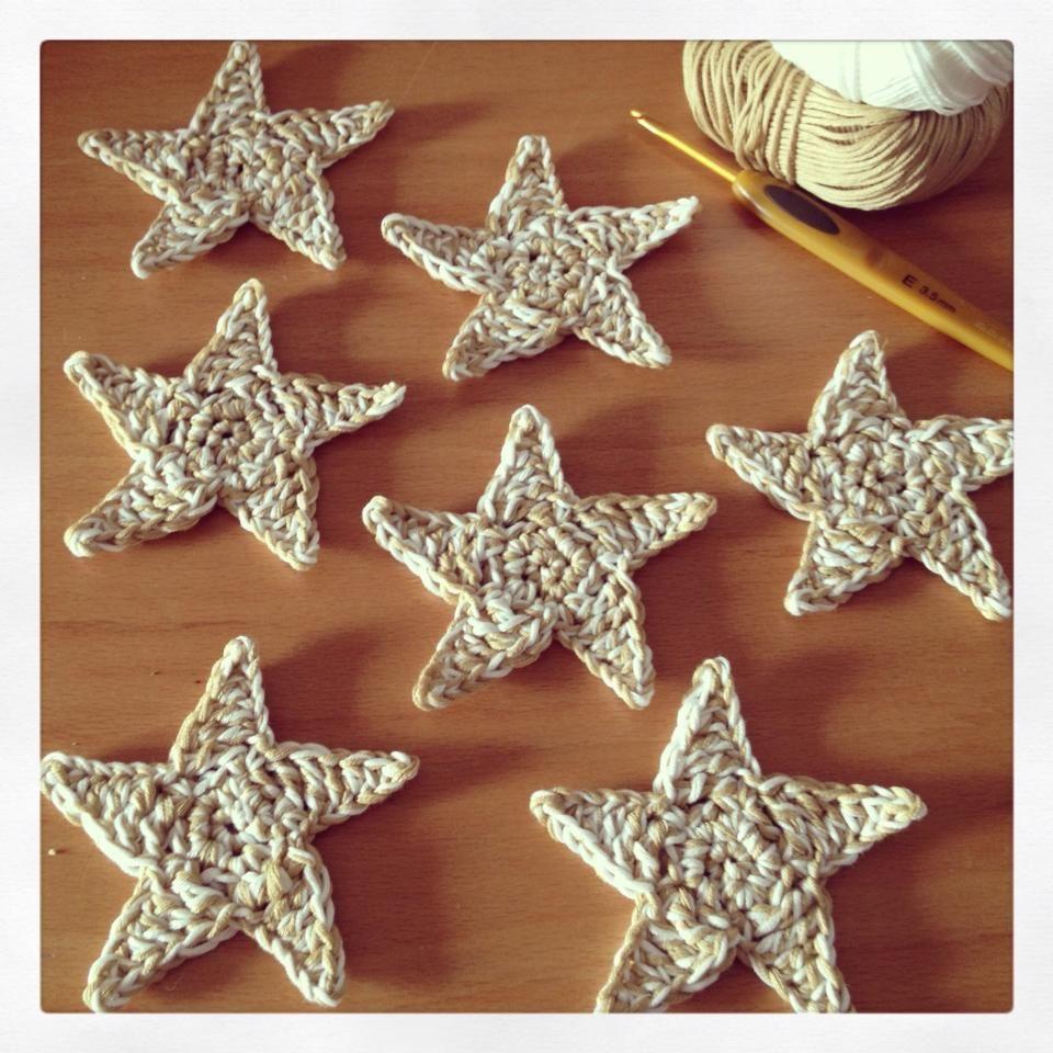 Estrellas cinco puntas en crochet