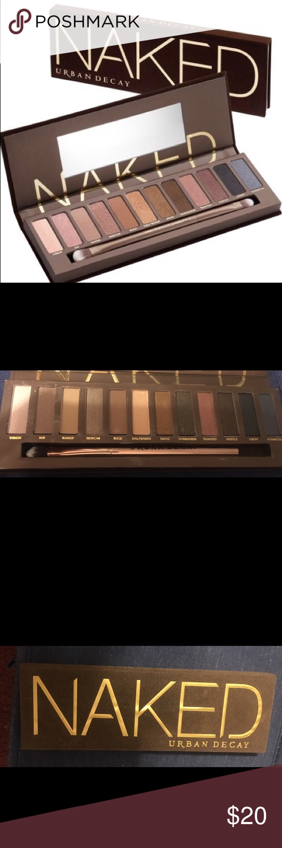 Naked brand Eyeshadow Palette Never been used- perfect condition eyeshadow palette with original brush included NAKED Makeup Eyeshadow
