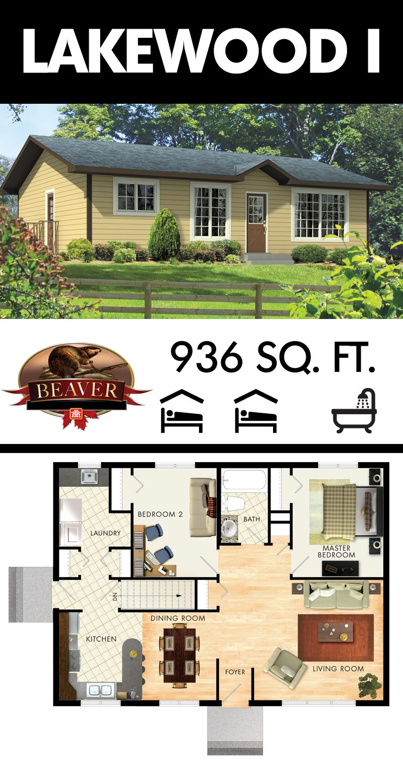The lakewood i is a country bungalow just under 1000 for Bungalow designs 1000 sq ft