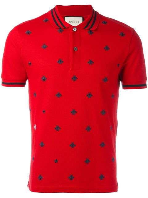 302ce52f80b2c GUCCI Bee And Star Polo Shirt. #gucci #cloth #shirt | Gucci Men in ...