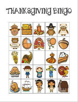 Thanksgiving Bingo Custom Printables  Thanksgiving Blank Bingo