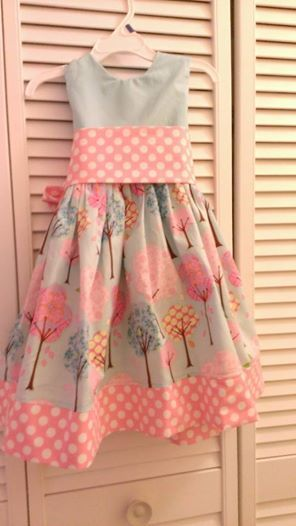 Pretty little trees using Cottage Mama party dress pattern. | kids ...