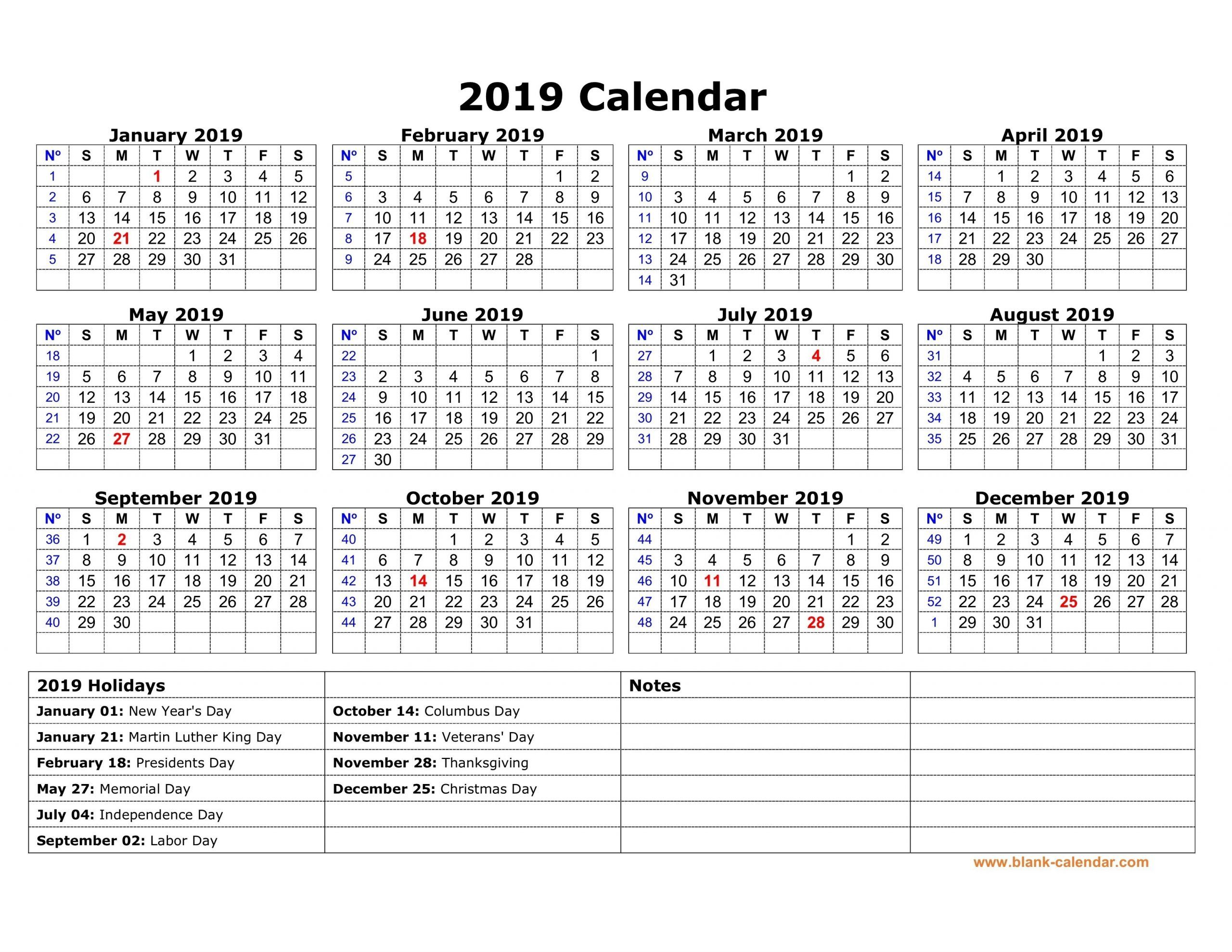 Blank Vacation Calendar Template What Will Blank Vacation Calendar Template Be Like In Calendar 2019 Template Printable Yearly Calendar Free Calendar Template