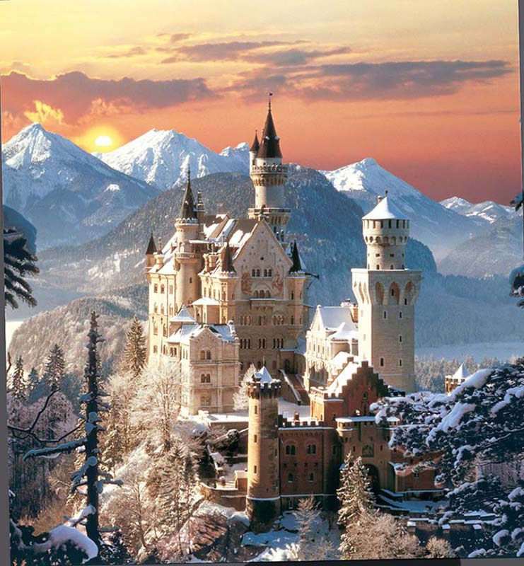 Neuschwanstein Winter Puzzlewarehouse Com Kasteel Neuschwanstein Kasteel Van Doornroosje Duitsland Kastelen
