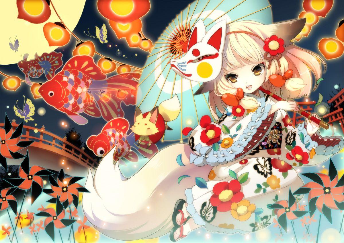Cute little anime fox girl  Gin (Oyoyo)/#789280 - Zerochan