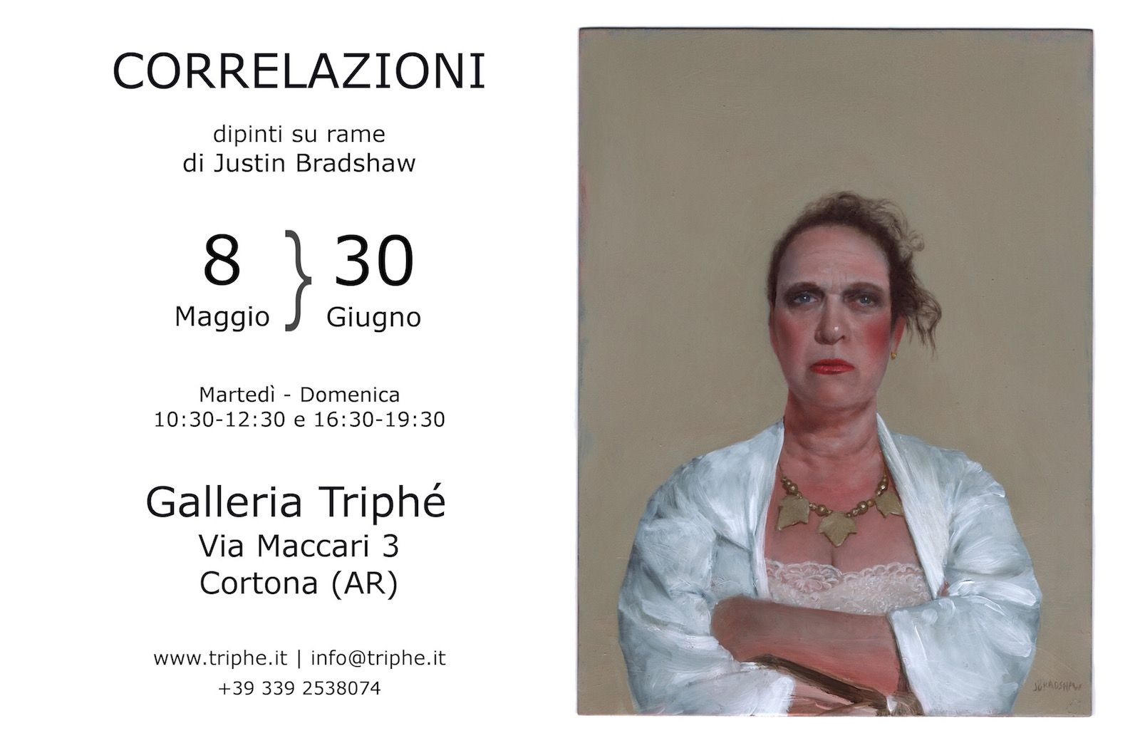 Justin Bradshaw in Cortona, Italy : Correlations (yours truly as the Whore of Babylon)
