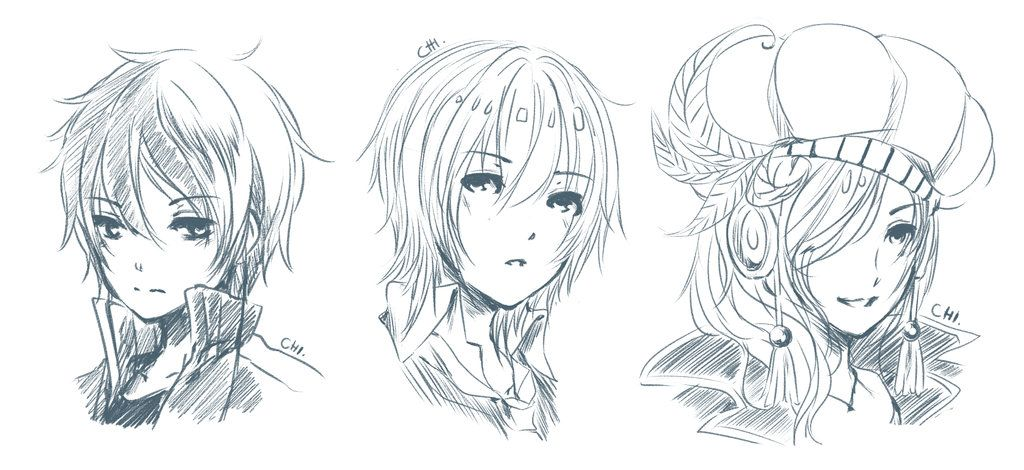 Comm Headshot Sketch 1 Headshots Anime Drawings Art