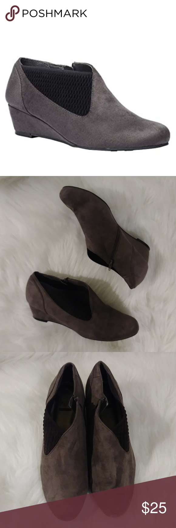 03496c528877  464 Impo Gabriella Stretch Dress Wedge Booties Wedge Ankle booties Machine  washable Shoes