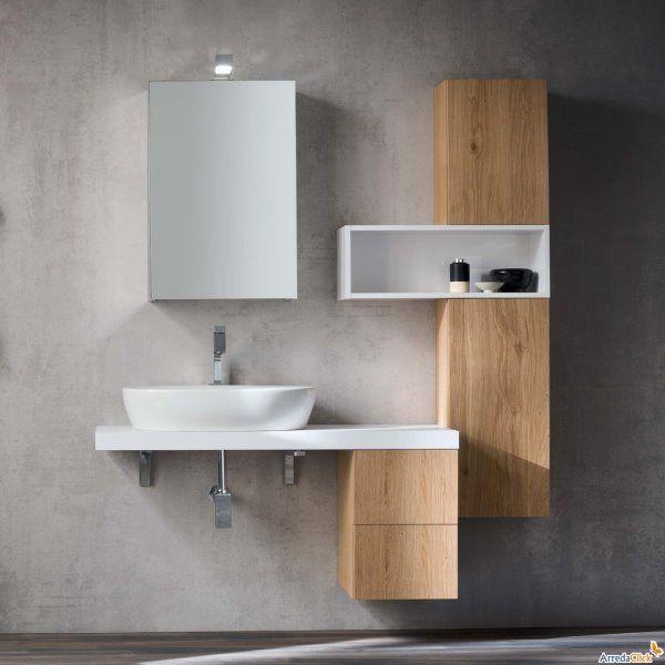 Mobile bagno moderno legno liana nel 2019 arredamento for Mobile moderno bagno