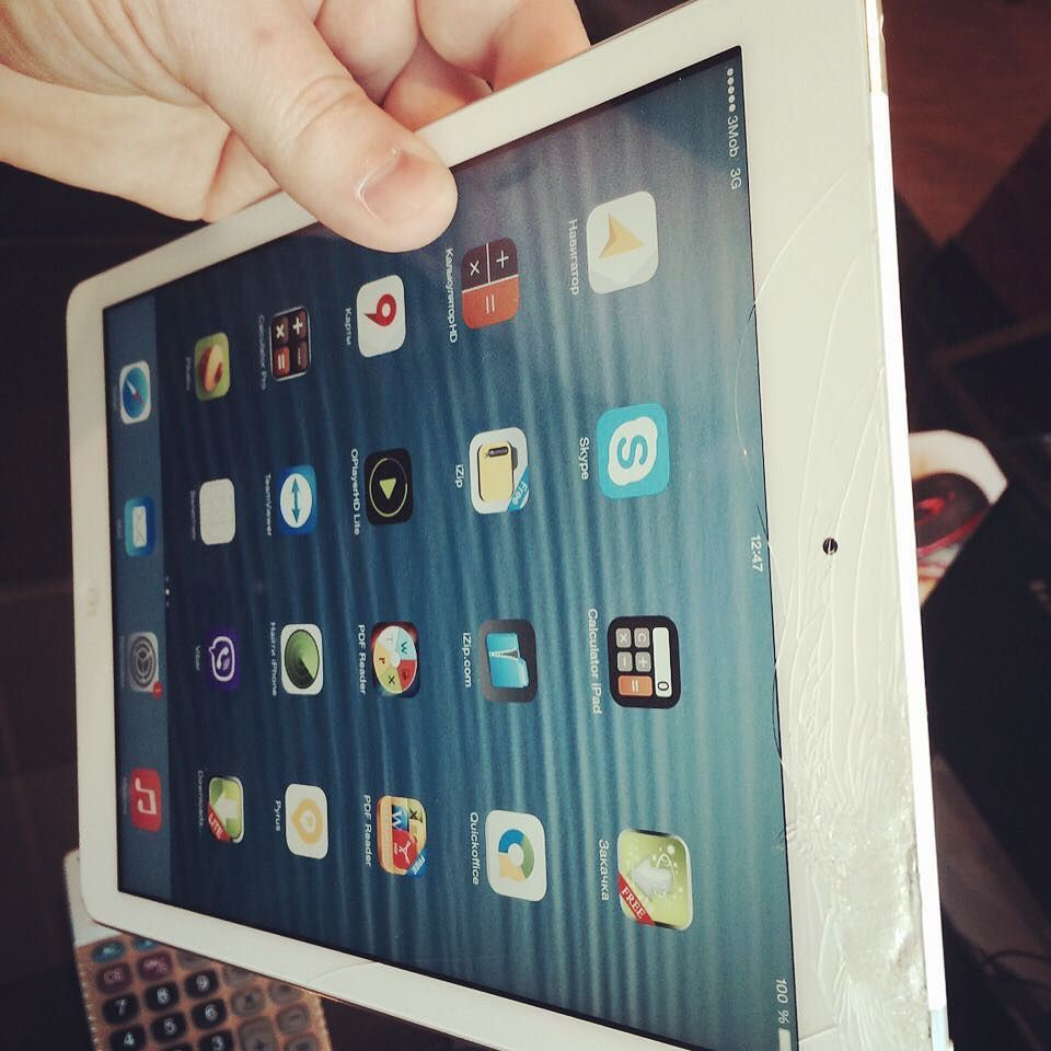 Ремонт Apple iPad Air 64Gb 4G Silver Замена сенсорного